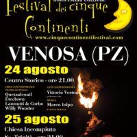 A Venosa la XII edizione del Festival dei Cinque Continenti